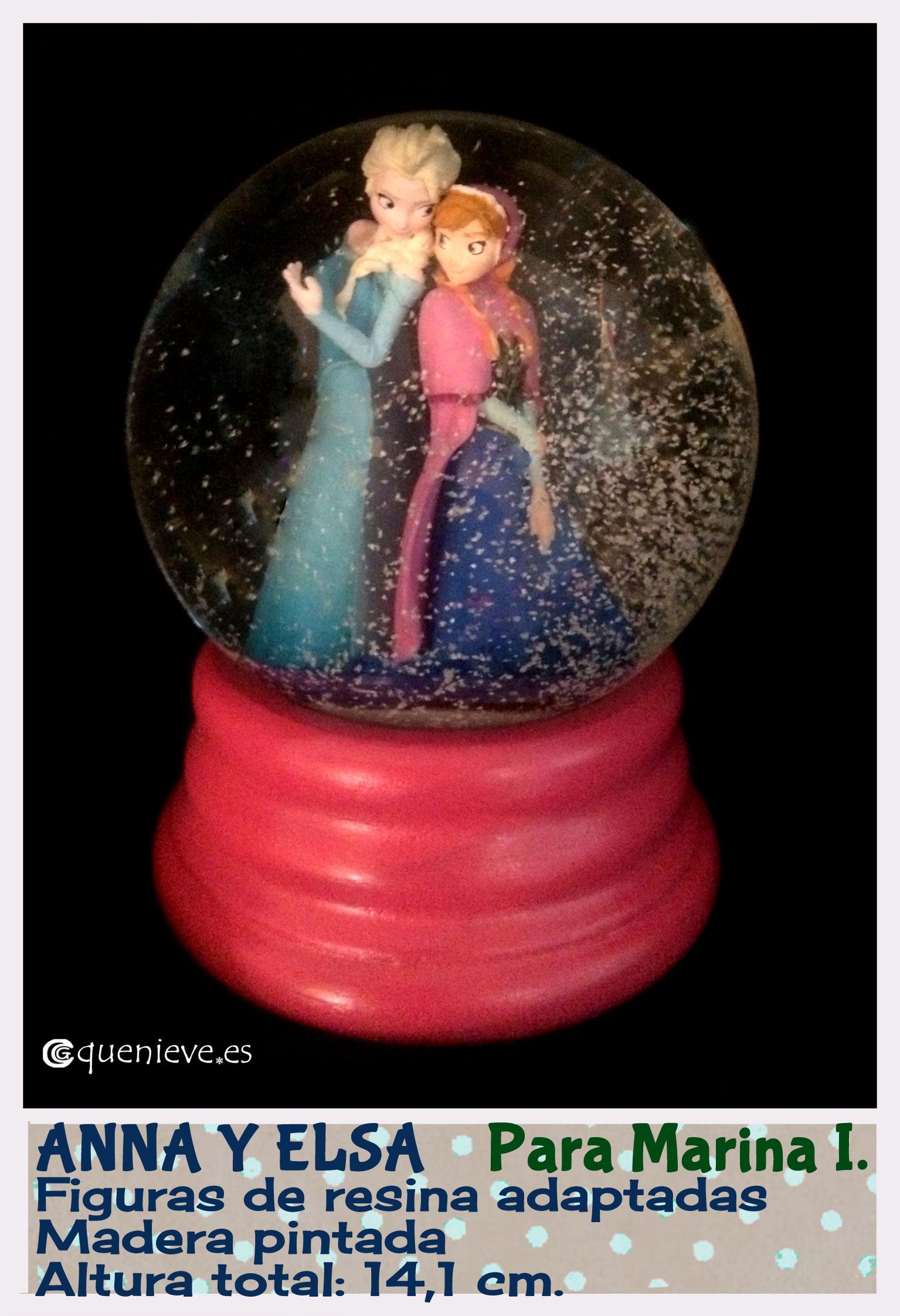 "Bola de nieve personalizada con figuras""Frozen"". Creada por QueNieve"