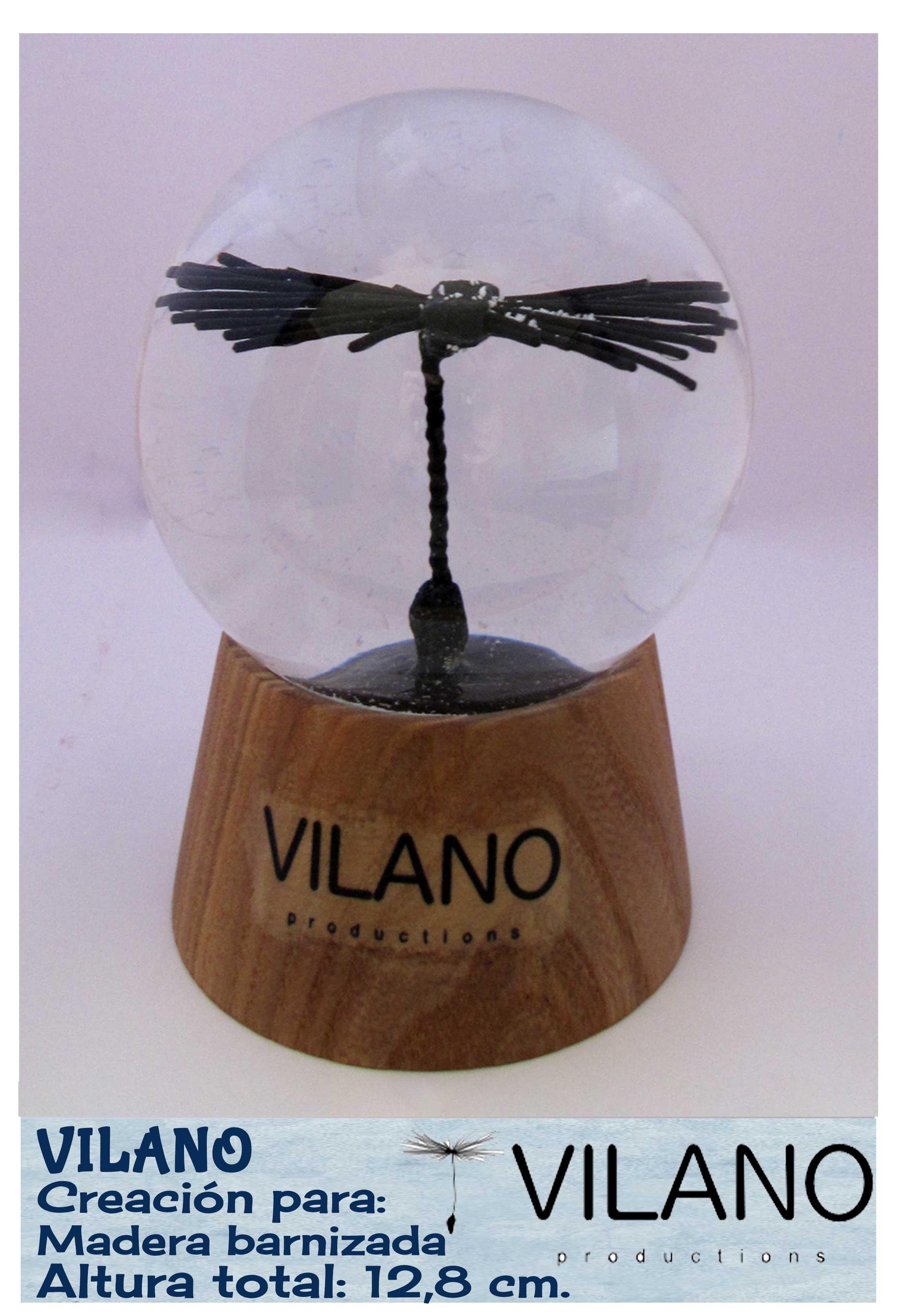 Bola de nieve personalizada con reproducción de vilano. Creada por QueNieve