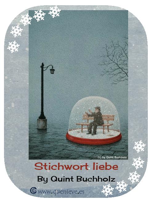 """Bolas de nieve ilustraciones y dibujos """"Stichwort liebe"""" by Quint Buchholz"""