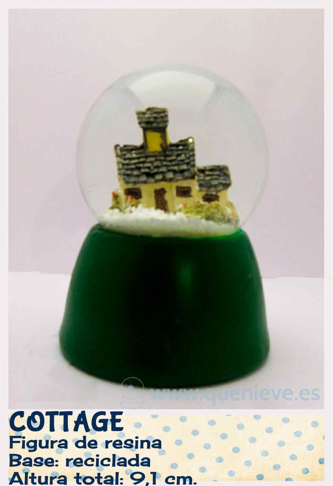Bola de nieve personalizada con figura resina. Creada por QueNieve