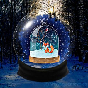Bolas de nieve en ilustraciones y dibujos. Imagen apoyo de QueNieve