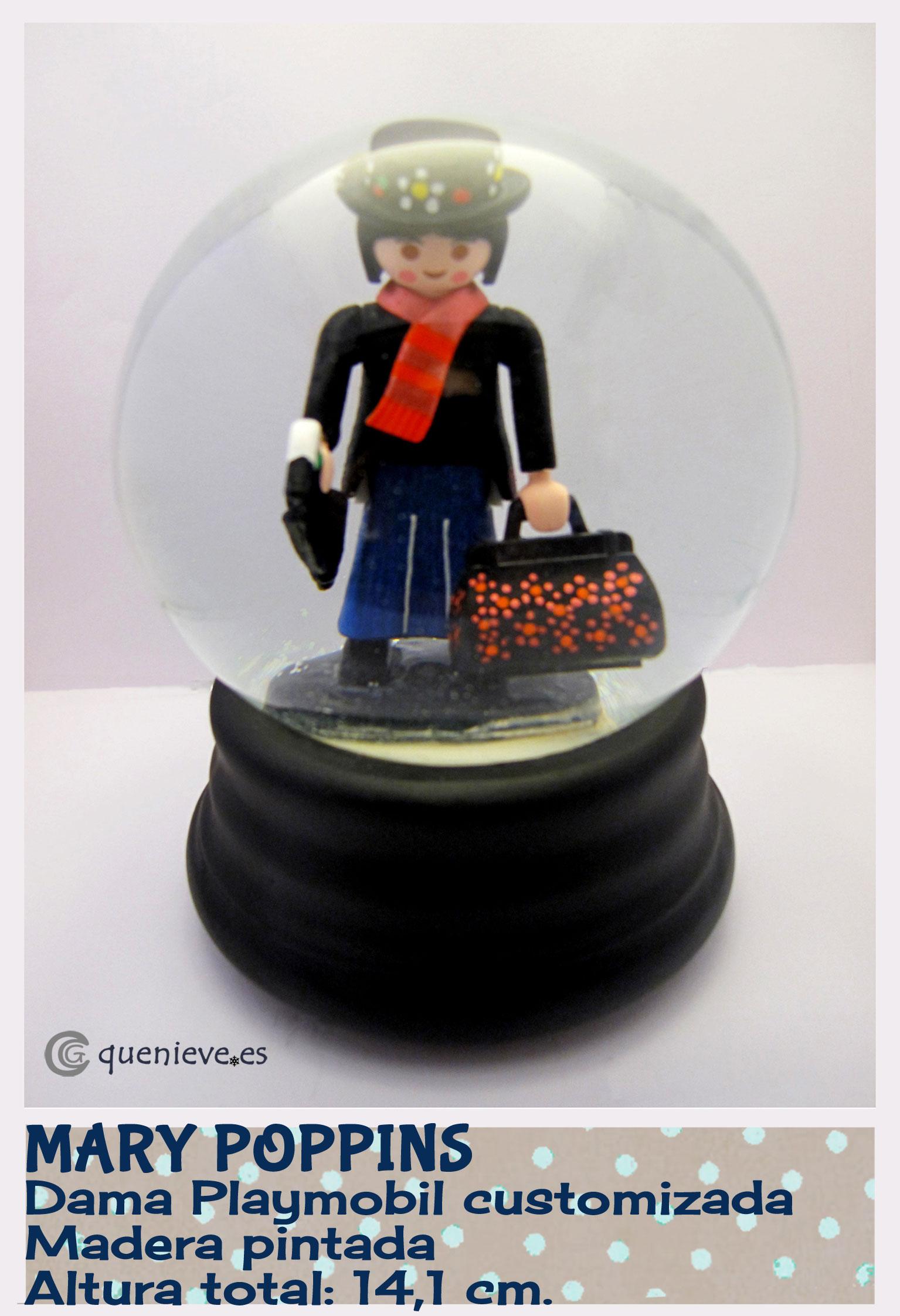 """Bola de nieve personalizada """"Mary Poppins"""". Creada por QueNieve"""