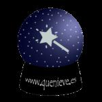 BOLAS DE NIEVE. LOGOTIPO DE QUENIEVE