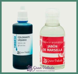 Esencia y colorante para jabón