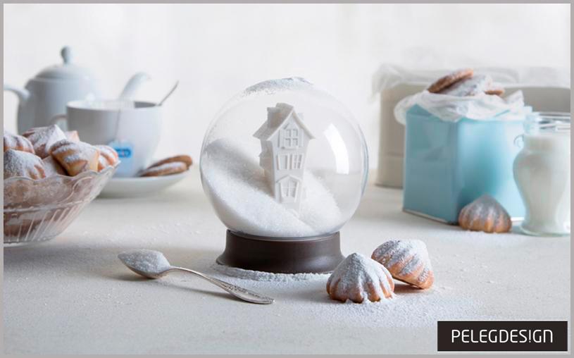 Bolas de nieve para disfrutar en tu cocina. Azucarero de Peleg Design