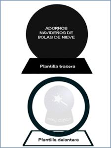 PLANTILLAS PARA HACER BOLAS DE NIEVE