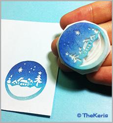 bola de nieve en grabado