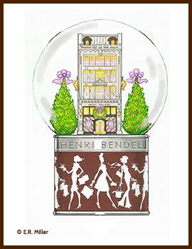 HENRI BENDEL'S SNOW GLOBES