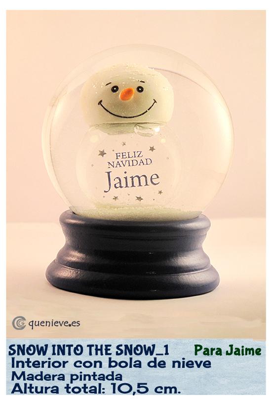 Bola de nieve personalizada con bola de nieve. Creada por QueNieve