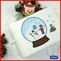 bola de nieve para decorar regalos